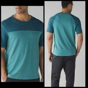 Lululemon Men's In Your Element Blue Green T-Shirt
